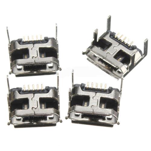 Type B Micro USB Femelle 5 Pin Jack Port Socket Connecteur Réparation Pièces 10Pcs