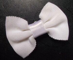 Vintage-Bow-Tie-CLIP-ON-BOYS-Retro-Dickie-Bowtie-1950s-1950s-Off-White