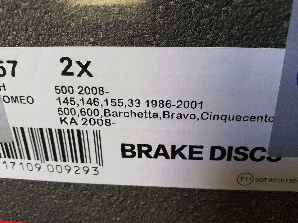 Bremsedele, Forbremser, Ford Fiat 500 Ford ka