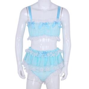 Sissy Thong Panties With Skirt And Sheath Blue Crossdresser
