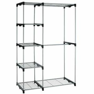 Closet-Organizer-Storage-Rack-Portable-Clothes-Hanger-Home-Garment-Shelf-Rod-G68