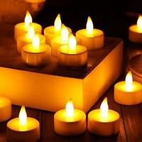 24pc LED Tea Light Candles Realistic Battery-Powered Flameless Candles