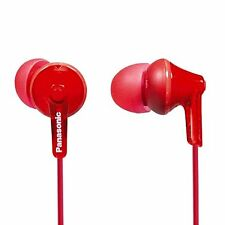 Panasonic RP-HJE125-R  ErgoFit In-Ear Earbuds - RED- Brand New - Free Ship