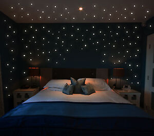 wandtattoo leucht punkte 355 stk fluoreszierende pkt sterne sternenhimmel m1172. Black Bedroom Furniture Sets. Home Design Ideas