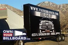 10x20 Billboard Trailer Truck Back Lit With Free Banners Outdoor Advertising