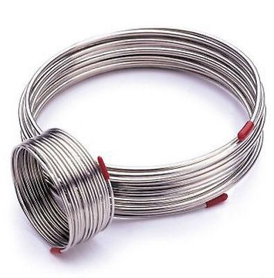 2m 304 Stainless Steel Flexible Hose Outer Diameter 1/4'', Gas Liquid Tube #E9-2