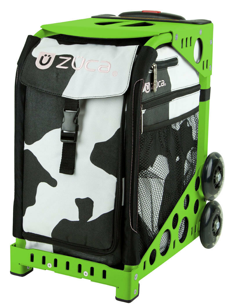 Zuca Muca Sport Insert Bag & Green Frame with Flashing Wheels