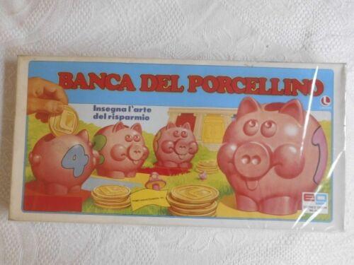 GIOCO IN SCATOLA BANCA DEL PORCELLINO FONDO DI MAGAZZINO  1983