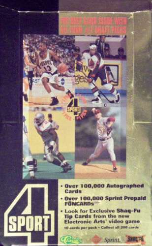Pick 20 1994 Classic 4 Sport Cards Fill Your Set