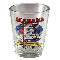 Alabama State Elements Map Shot Glass Shotglass