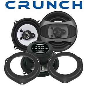 Crunch Lautsprecher 130mm & Adapterringe für Opel Corsa C Fronttüren