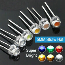 5mm Straw Hat Led Diode F5 Light Emitting Diode Red Yellow Green Blue Warm White