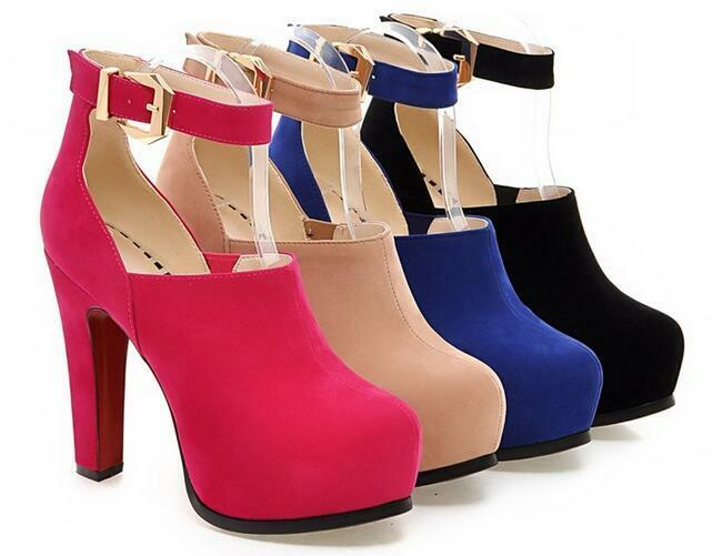 Zapatos especiales con descuento botas rosa beige azul negro talón 13 cm como piel cómodo 8602