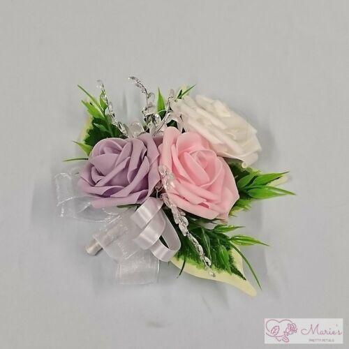 Mariage Fleurs Mesdames poignet Corsage demoiselle d/'honneur bleu marine foncé Prom Parti