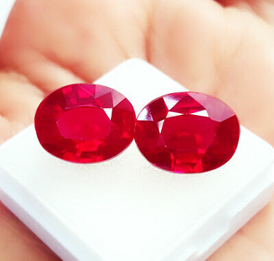 Natural Red Ruby Loose Gemstone Certified 10.00 Ct Cushion Shape