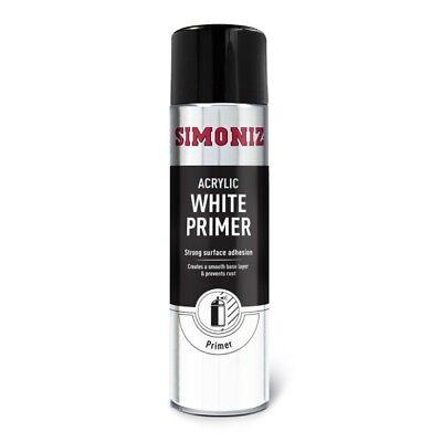 Simoniz White Primer 500ml Aerosol High Quality Automotive Car Paint Spray Can