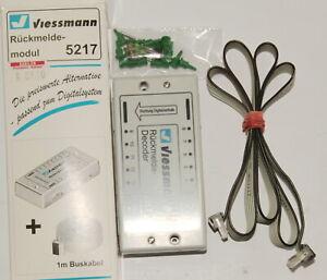 Viessmann-5217-Ruckmeldedecoder-s-88-in-OVP-Stecker-Kabel-wie-Marklin-6088