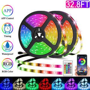 LED-RGB-Guirlande-Lumineuse-Smart-Connecte-WiFi-Ruban-Lumiere-Maison-TV-Decor