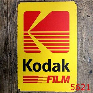 Details about Metal Tin Sign kodak film Bar Pub Home Vintage Retro Poster  Cafe ART