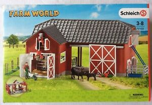 Schleich-72102-Farm-World-Large-Red-Barn-with-Animals-amp-Accessories-Toy-Playset