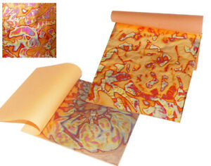 3-Red-Gold-Annealed-Metal-Foil-Leaf-Squares-for-Adults-Gilding-Crafts