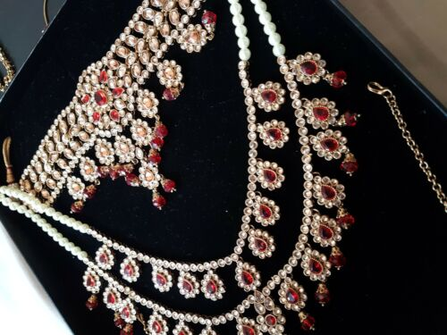 Asian bridal jewellery red
