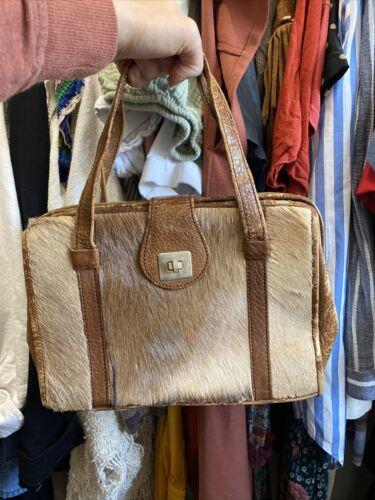 Vintage Umtali Leather Handbag Antelope Tote Purse