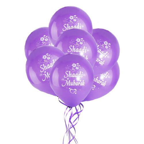 10 Pack árabe musulmán celebración familiar Decoración Regalos Shaadi Balloons