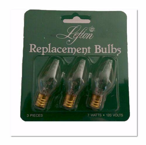 "Set of 3-7 watt Lefton /""Clear Light Bulbs/"""