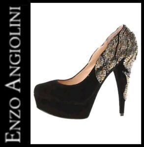 200-ENZO-ANGIOLINI-Black-Suede-Baladeva-Jeweled-Beaded-EVENING-Pumps-10-M3020