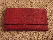 NWT Faux Alligator Leather Clutch Purse Envelope Bag Handbag