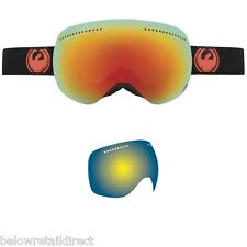 NEW DRAGON APX SNOW SKI GOGGLE JET / RED IONIZED+YELLOW-BLUE IONIZED 722-4205
