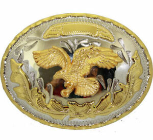 Oversize BIG American BALD EAGLE Belt Buckle Cowboy Rodeo Large Silver Gold ov8