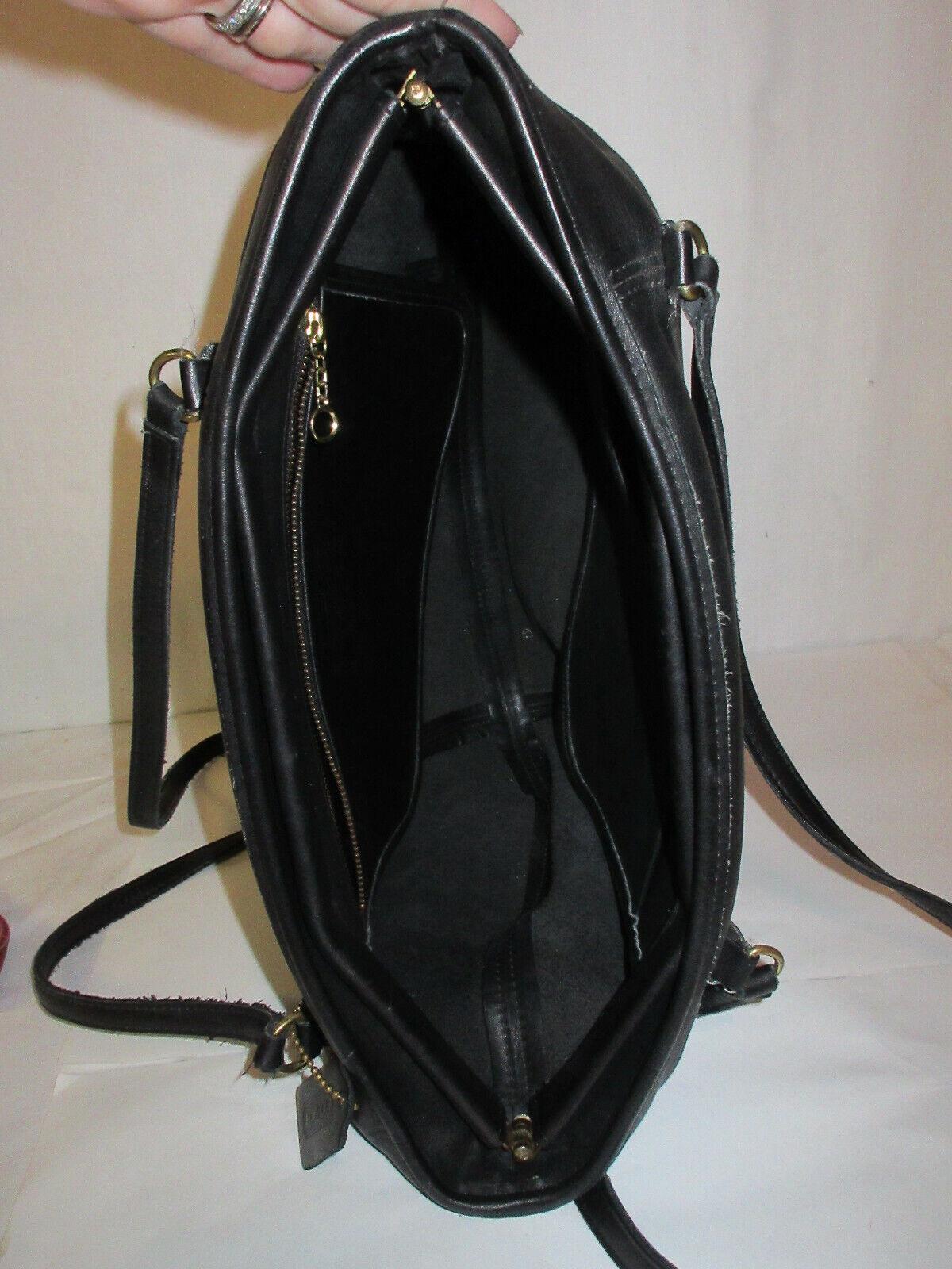 Vtg COACH 9998 Black Leather Large Framed Pouch H… - image 5