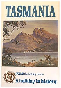 A1-SIZE-POSTER-PRINT-VINTAGE-OLD-TRAVEL-TASMANIA-AUSTRALIA