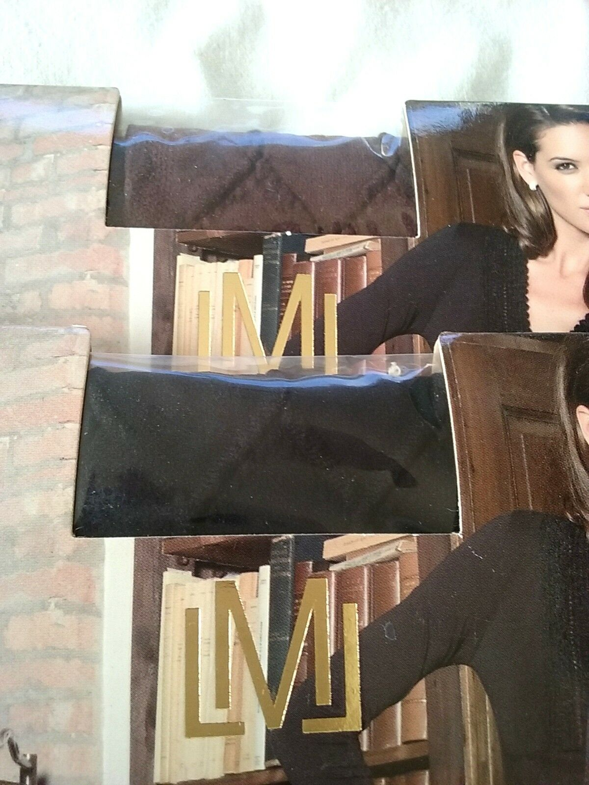 New Luisa Maria lugli Regina Micro Tights With Rhombus Design Brown Pantyhose XS