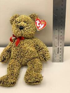 "Ty Beanie Babies LEX the Bear 9"" Beanbag Plush Stuffed Toy"