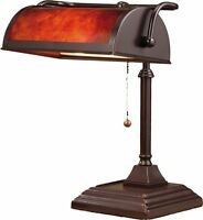 Banker's Lamp Desk Office Shade Pull Chain Study Coffee Table Accent Light Decor