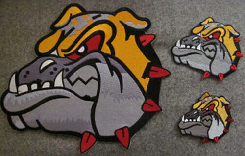 3 PIECES BULL DOG MARTIAL ARTS PATCHES NEW