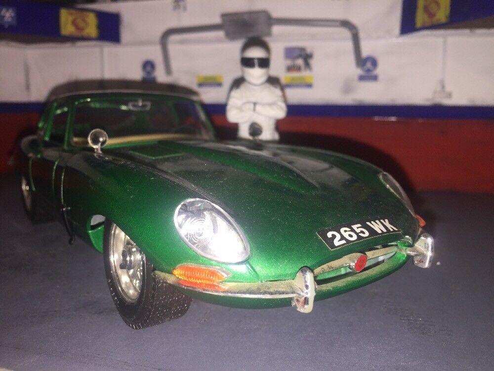 1 18 très rare couleur vert métallique Jaguar E Type Coupe Classique Voiture Sport 1 18