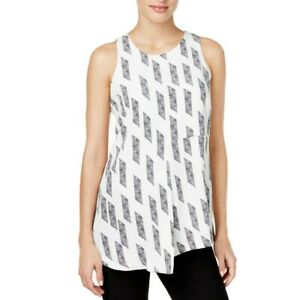 ALFANI-NEW-Women-039-s-Printed-Sleeveless-Asymmetrical-Casual-Shirt-Top-TEDO