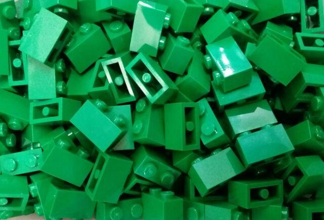 *NEW* Lego Green 1x2 Stud Bricks Blocks Garden Walls Forest Buildings 20 pieces