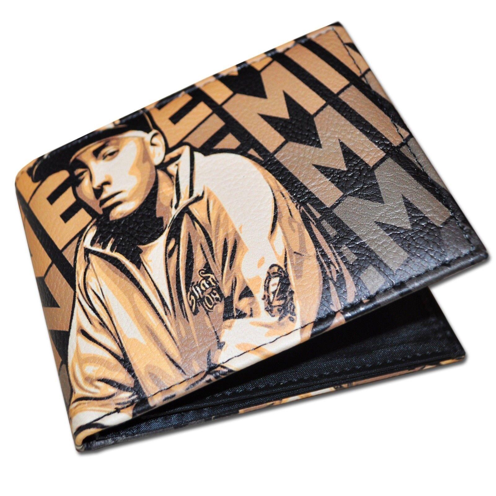 Eminem Gold Mens Mens Mens damen Wallet Hip Hop 3d8bd3