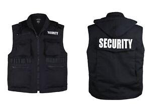 MENS-Womens-Unisex-SECURITY-Vest-Uniform-Black-Size-S-M-L-XL-2XL