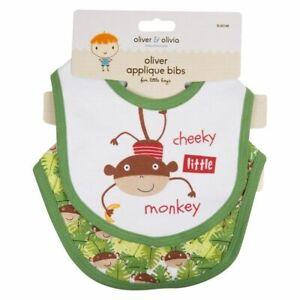 """Cheeky Petit Singe (vert) 2pk Pour Bébé Garçons Coton Dribble Bibs (29x2x23) Cm-pk Baby Toddler Boys Cotton Dribble Bibs (29x2x23)cm"""" afficher Le Titre D'origine Prix De Rue"""