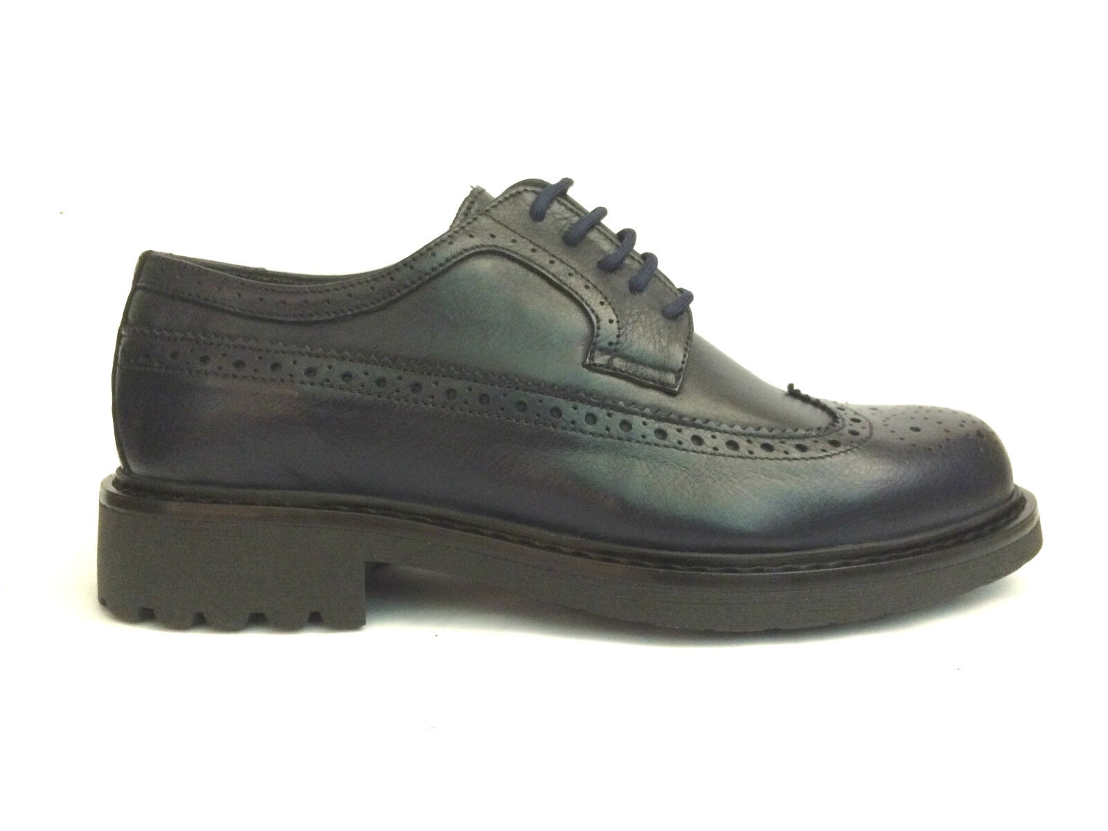 schuhe UOMO WEENCHESTER 2016/17 Schuhe STRINGATE INGLESE 4932 BLU A/I 2016/17 WEENCHESTER SCONTO 32% 740d4e