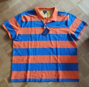 Gant Barstripe Poloshirt 3XL Sunny Orange Premium Qualität Shirt Hemd