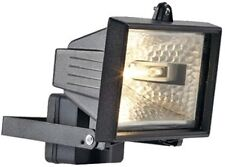 120W Black Halogen Floodlight-Exterior Garden Security Light + FREE Lamp/Bulb