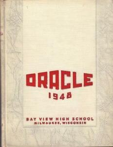 1948 bay view high school yearbook annual milwaukee wi free ship