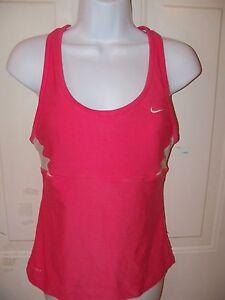 8215b28b33c92 Nike Pink Dri-Fit Racerback Tank Top Size Medium Women s EUC